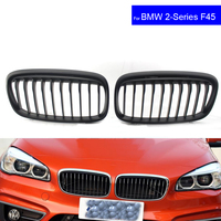 For BMW F45 F46 2 Series 220i 228i 2015 2016 2017 Car Front Hood Kidney Grille Grill Black Auto Bonnet Racing Grills Mat Black