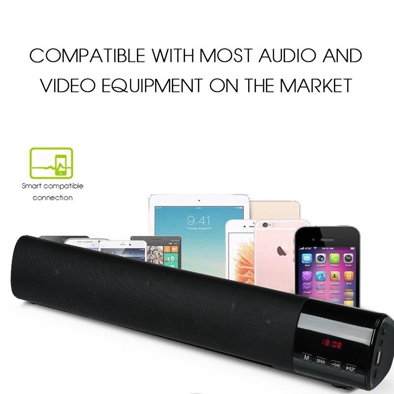 2018 Wireless Speakers Plastic New Hifi Stereo Bluetooth Speaker Home Theather Sound System Loundspeaker  with FM USB Soundbar