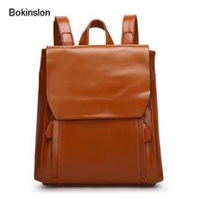 Bokinslon женщина рюкзак искусственная кожа Мода Рюкзак Индивидуальность Для женщин мягкая поверхность Колледж ветра девушка сумки