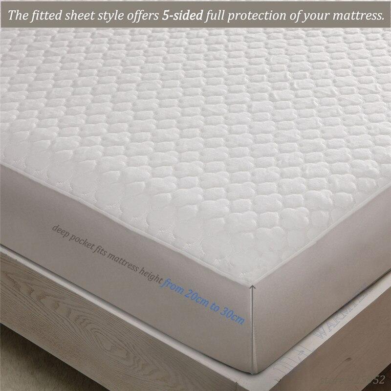 160x200cm waterproof beautiful Jacquard cloth mattress protector mattress cover high quality --W008 A