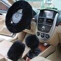 Pele tampas de roda da Direcção Do Carro de Inverno Cobertura de Volante aquecido acessórios Interiores 38 cm-Assento de Carro Tampa da roda de Direcção cobre