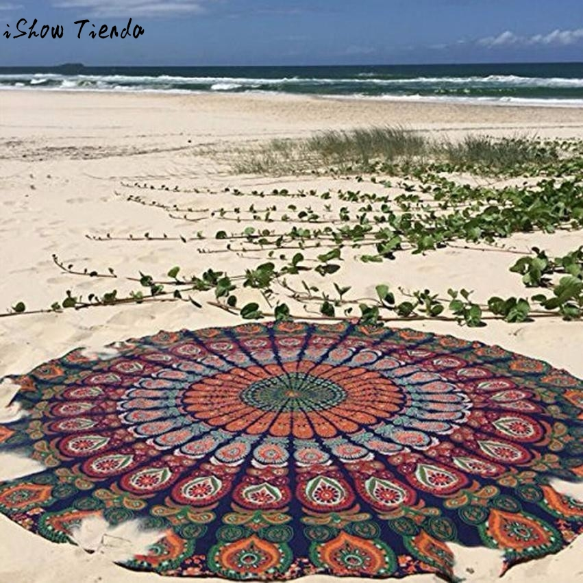 Round Beach Pool Home Shower Towel Blanket Table Cloth Yoga Mat Toallas Playa 2017