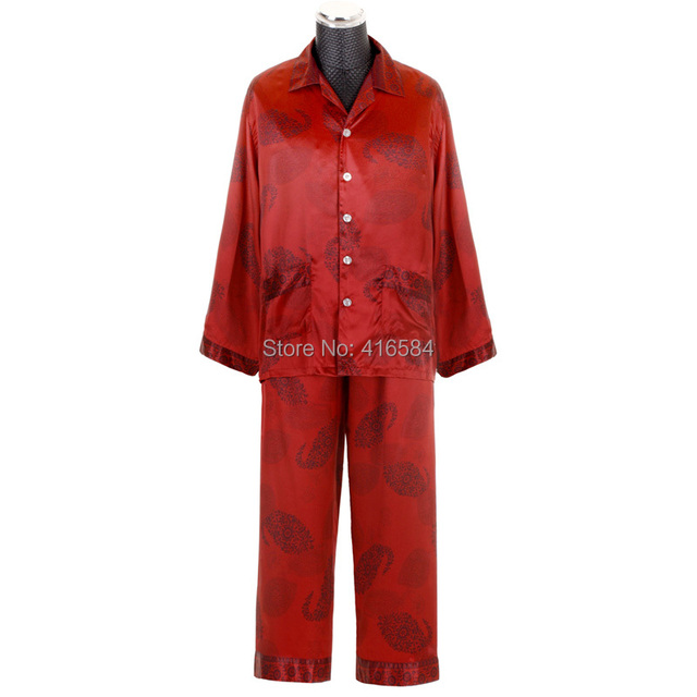Aliexpress.com : Buy Luxury Chinese Red Short/Long Pajama Couple ...