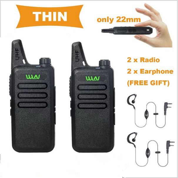 WLN KD C1 Walkie Talkie Two Way Radio in RUSSIA 5W long range Ultra Thin Mini