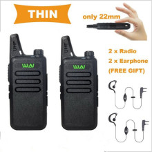 WLN KD-C1 Walkie Talkie Two Way Radio in RUSSIA 5W long range Ultra-Thin Mini Two-Way radio UHF 400-470MHz with FREE Earphone