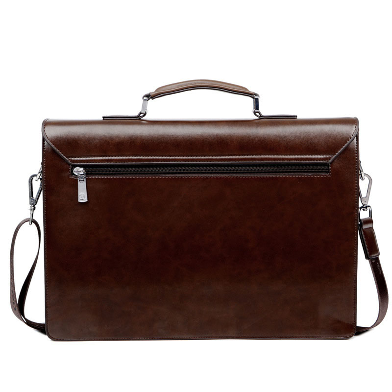 5e11c736faa Business Man Bag Theftproof Lock PU Leather Briefcase For Man Pure ...