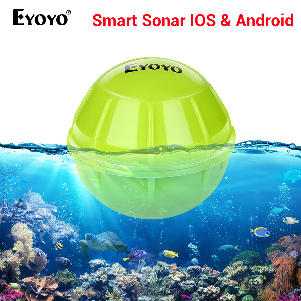 Eyoyo E1 sondeur à poisson pour la pêche Bluetooth sans fil profondeur intelligente pêche détecter écho sondeur plus profond sondeur IOS Android