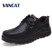 VANCAT Brand Size 38 48 Fashion Handmade Brand Genuine leather men Flats,Soft leather men Male Moccasins,High Quality Men Shoes