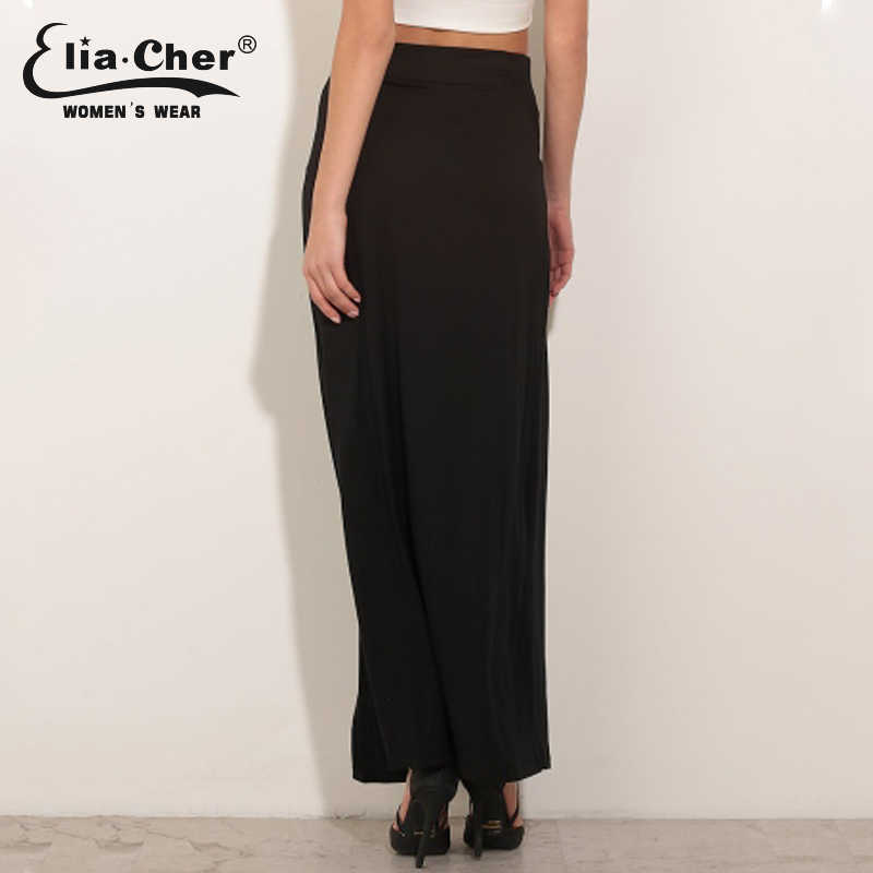 Detail Feedback Questions about Double Slit Maxi Skirt Long Knitting ...