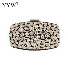 Luxury Crystal Evening Party Clutch Bag For Women Sac Main Femme Gold Hollow Rhinestone Evening Handbag And Purse For Wedding