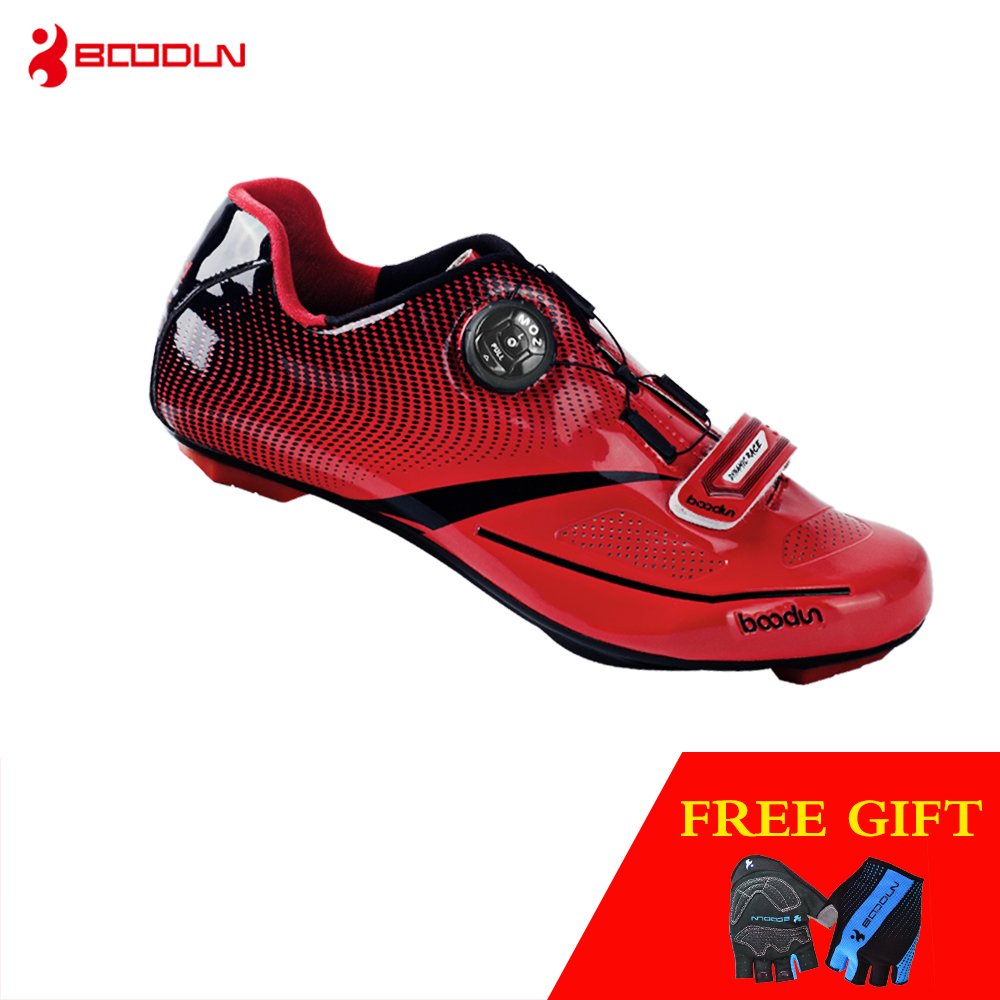 Boodun Outdoor Sports Cycling Shoes Men Pro Road Bike Racing Shoes Waterproof Breathable Light Athletic Self-locking Men Women sidebike men women breathable athletic cycling shoes bicycle outdoor sports shoes road bike self locking racing shoes