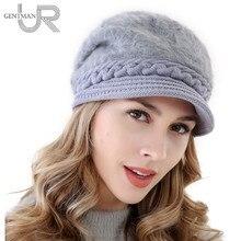 Nuevas mujeres caliente sombrero de piel de conejo sombreros de invierno  para las mujeres damas añaden alineado piel capo casqui. 68858e67c52