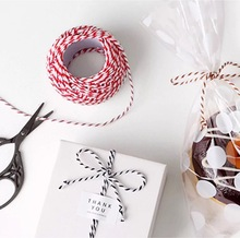 Emerra Color 3 strands of cotton rope handmade DIY toy bread color box packaging factory direct sales 18 meters/roll