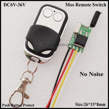 No Noise Mos Remote Switch Micro Wireless Lighting Switch 6V 7.4V 9V 12V 14V 18V 24V 28V 36V Car Truck Motorcycle scooter Switch