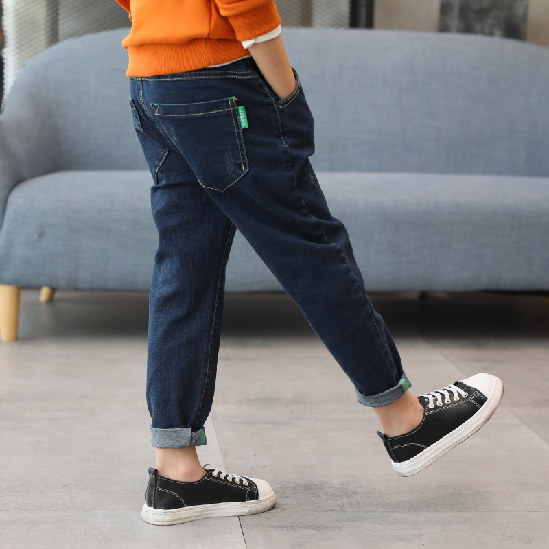 Kids Jeans Boys Loose Elastic Waist Toddler Jeans 2018 Casual Chlidren Clothing Teenage Fashion Demin Pant New Fashion Trousers