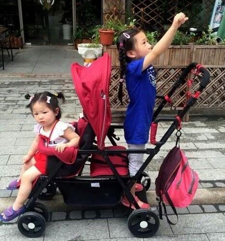 Crianças carrinho de bebê gêmeos carrinho de bebê pode sentar pode mentir