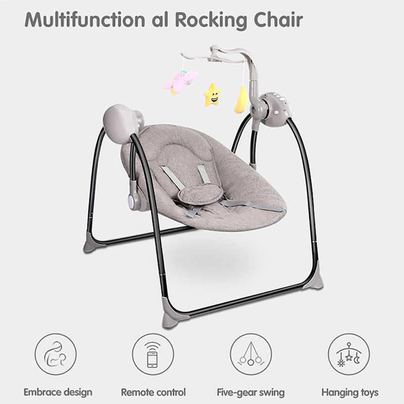 Mecedora eléctrica para bebés, mecedora, cuna para bebés con Control remoto, mecedora para recién nacidos