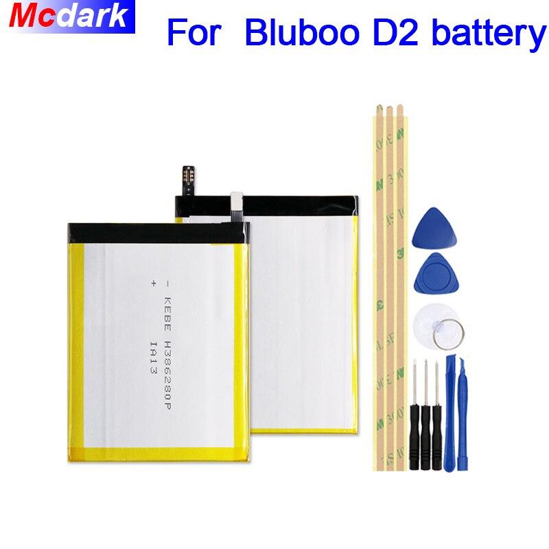 Mcdark 3300 mah Haute qualité Batterie Pour Bluboo D2 Batterie Bateria Accumulateur AKKU ACCU PIL Mobile Téléphone avec outils