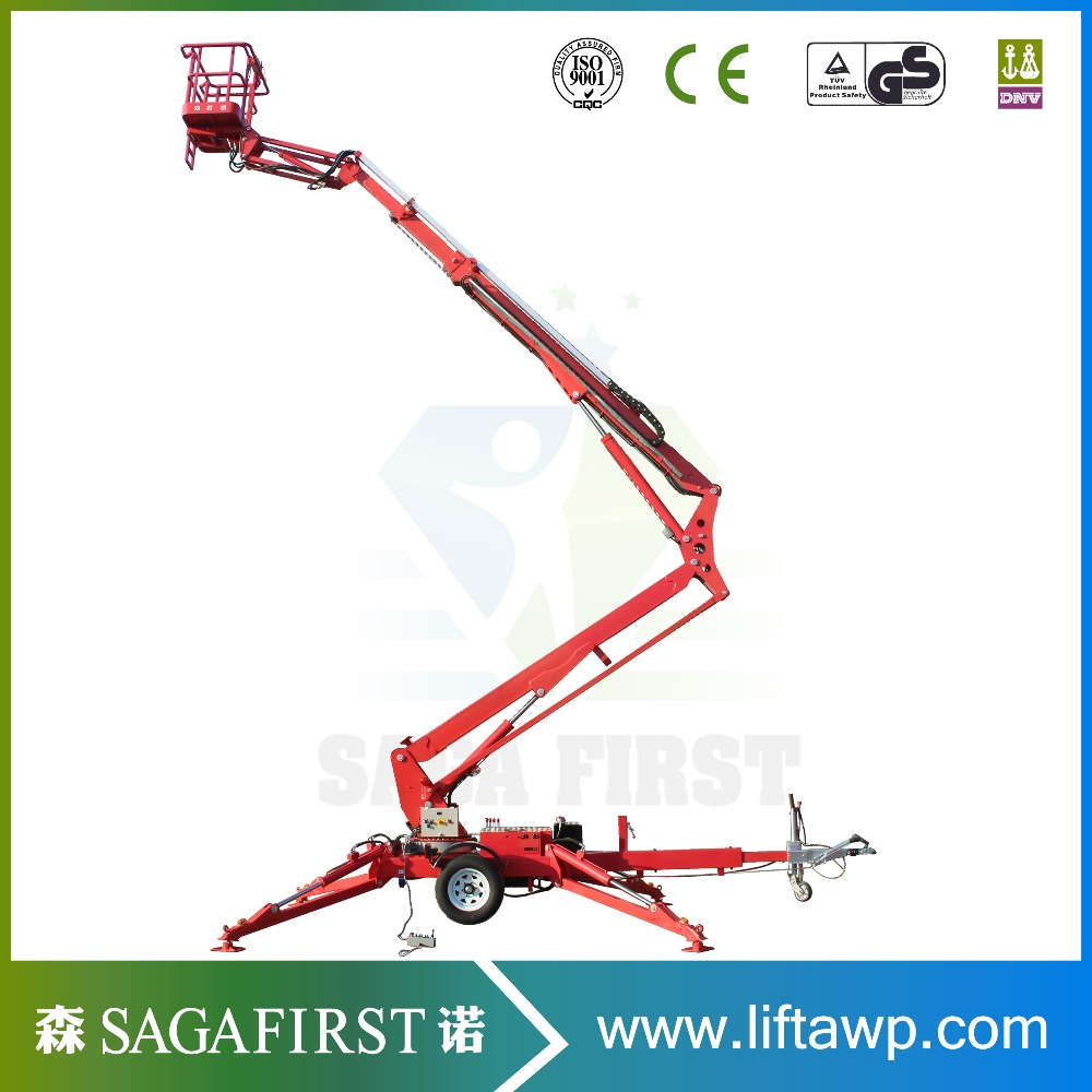 Towable Man Lift Boom Lift With Aerial Work Platform