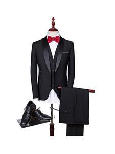 Shenrun Men Tuxedo Costume Jacket Suit Slim-Fit Skinny Party Wedding Fashion 3pieces