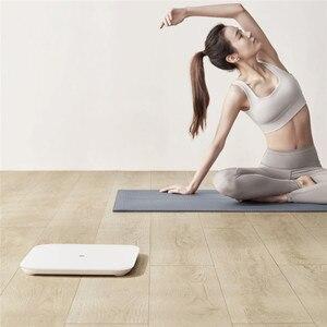 Image 3 - Оригинальные весы Xiaomi Mijia Scale 2, Bluetooth 5,0, умные весы, цифровой светодиодный дисплей, работает с приложением Mi fit для бытового фитнеса