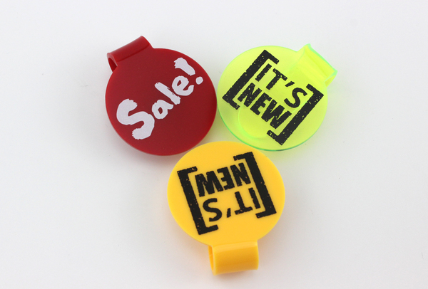 48mm Acrylic POP Sign Clips Sale Printed, club cosmetics nail salon shoes boots clip label price tag holder plastic snap display 29 7 21cm a4 black bottom t strong magnetic advertising sign card display stand acrylic desktop menu price label holder rack