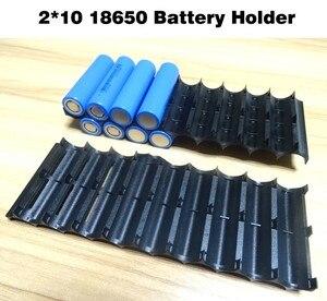 Image 5 - 4Pcs/lot 18650 battery holder Cylindrical cell 2*10 plastic holder 18650 lithium ion battery bracket plastic case Wholesale