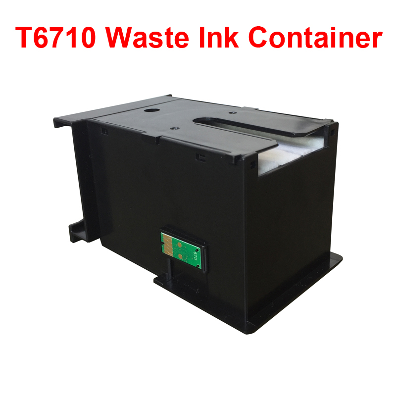 1PK For T6710 Waste Ink Container With Chip Use For WorkForce WF-7110 Inkjet Printer 3620 3640 3641 7111 7610 7620 7621 PX-M5040 hot sale inkjet printer machine 50meter 4 line 5mm 3mm solvent ink tube for infiniti pheaton sid roland mimaki mutoh