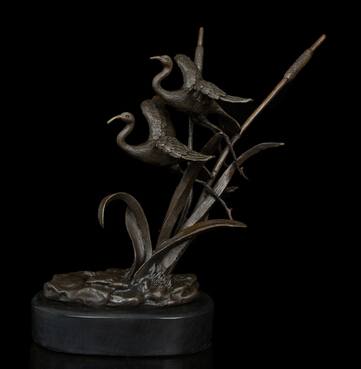 Copper Brass CHINESE Crafts Ation Asian Garden Statues Furnishing Articles  Luxury Gift Sculpture Bronze Birds Animal Statue Home In Statues U0026  Sculptures ...
