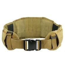 High Quality  Airsoft Tactical Padded  Adjustable Molle Waist support Belt Combat Army Battle Belt Cummerbunds For Mens
