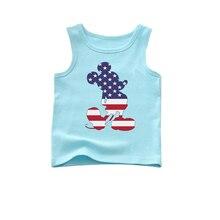 star micky sleeveless vest aqua blue summer season tank carton cotton tank