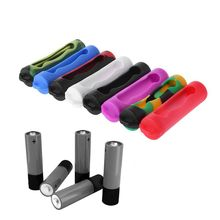 1000pcs/lot Mini Soft Colorful Silicone Sleeve Case Cover For 18650 Battery Protective Bag Pouch Storage Box DHL Ship
