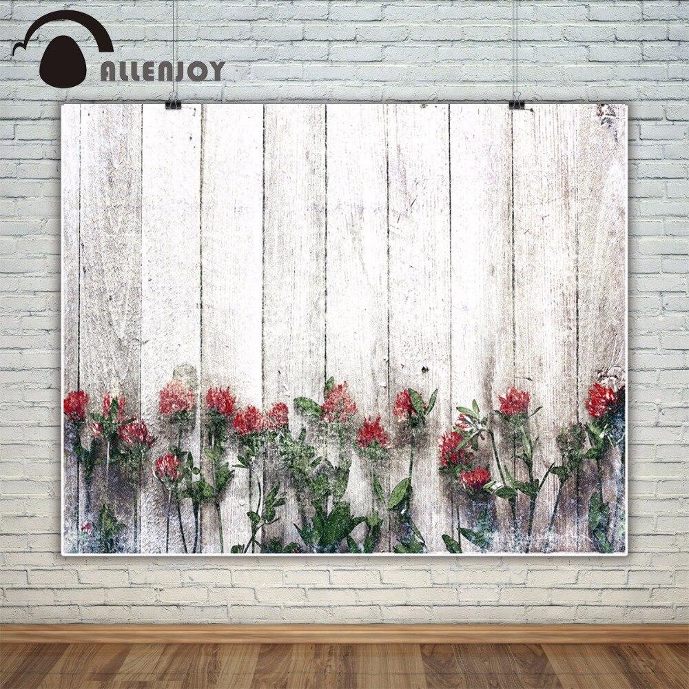 Bokeh Flowers Wedding: Allenjoy Wood Bokeh Flower Photography Backdrop Spring