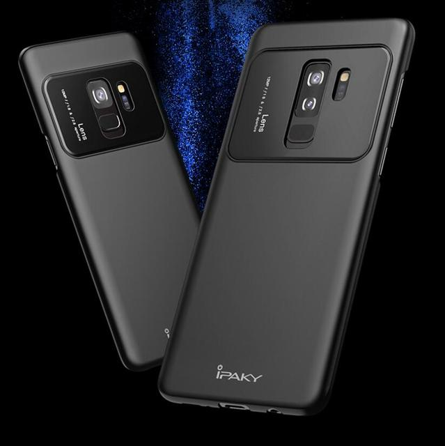 finest selection 7743f 29f0e US $6.91 |iPaky For Samsung Galaxy S9 Plus S9+ Armor Case Hybrid Tempered  Glass Matte PC Back Cover Hard Shockproof Housing Luxury For S9-in Fitted  ...