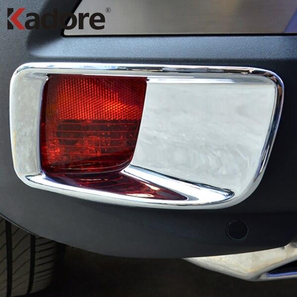 Rear Fog Light Cover Protector Trim Chromed 2PCS For BMW E70 X5 2008-2017