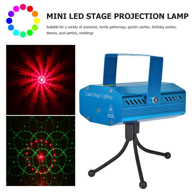 Mini LED Stage Projector Lamp Sound Control Starry Sky DJ Disco Xmas Party Decor Laser Light Club
