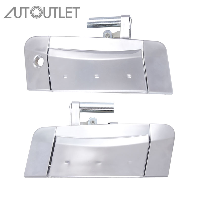 AUTOUTLET For Fits 03 09 Nissan 350Z Left Right PAIR Outside Outer Exterior Silver Door Handle