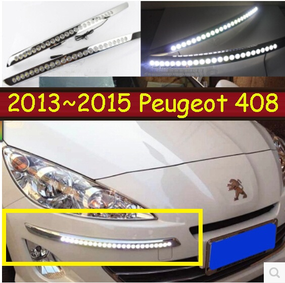 Peugeo 408 daytime light;2013~2015, Free ship!LED,Peugeo 408 fog light,2ps/set;Peugeo 308;3008;307,301,408 2013 2016 cadilla xts daytime light 4pcs set led free ship xts fog light ats sls srx xlr
