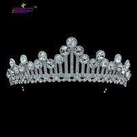 Real Austrian Crystals Bridal Wedding Flower Tiara Crown Diadem Hair Jewelry Accessories Prom Headpieces SHA8597