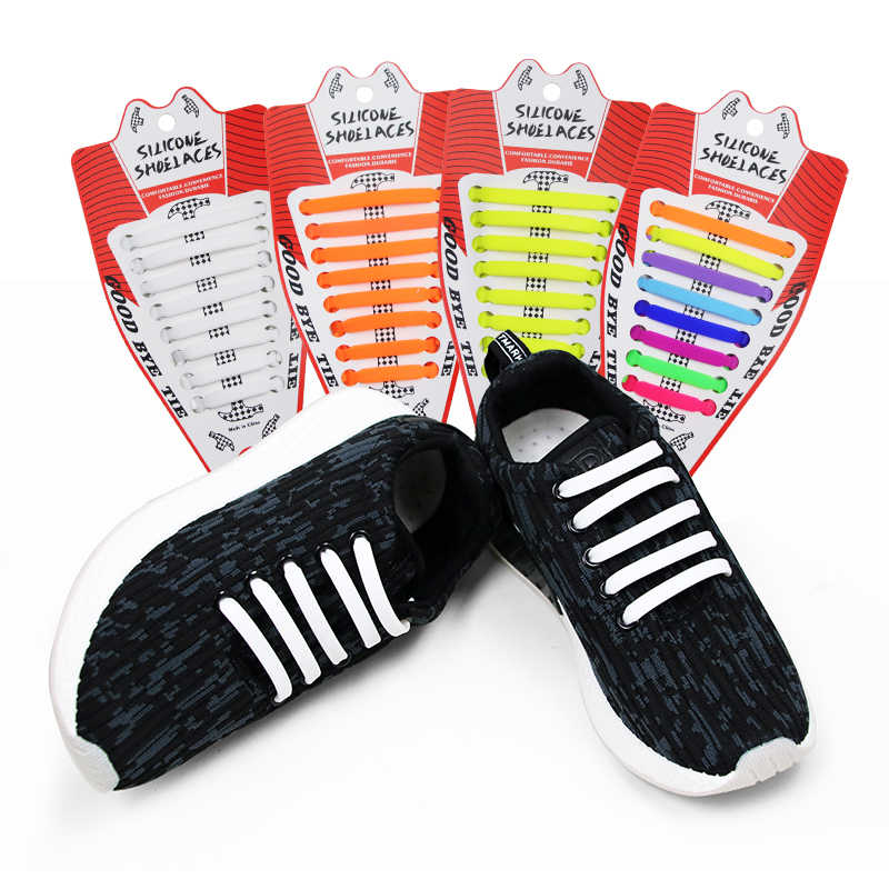 Shoelaces For Christmas.Child Lazy Elastic Silicone Multicolor Shoelace No Tie
