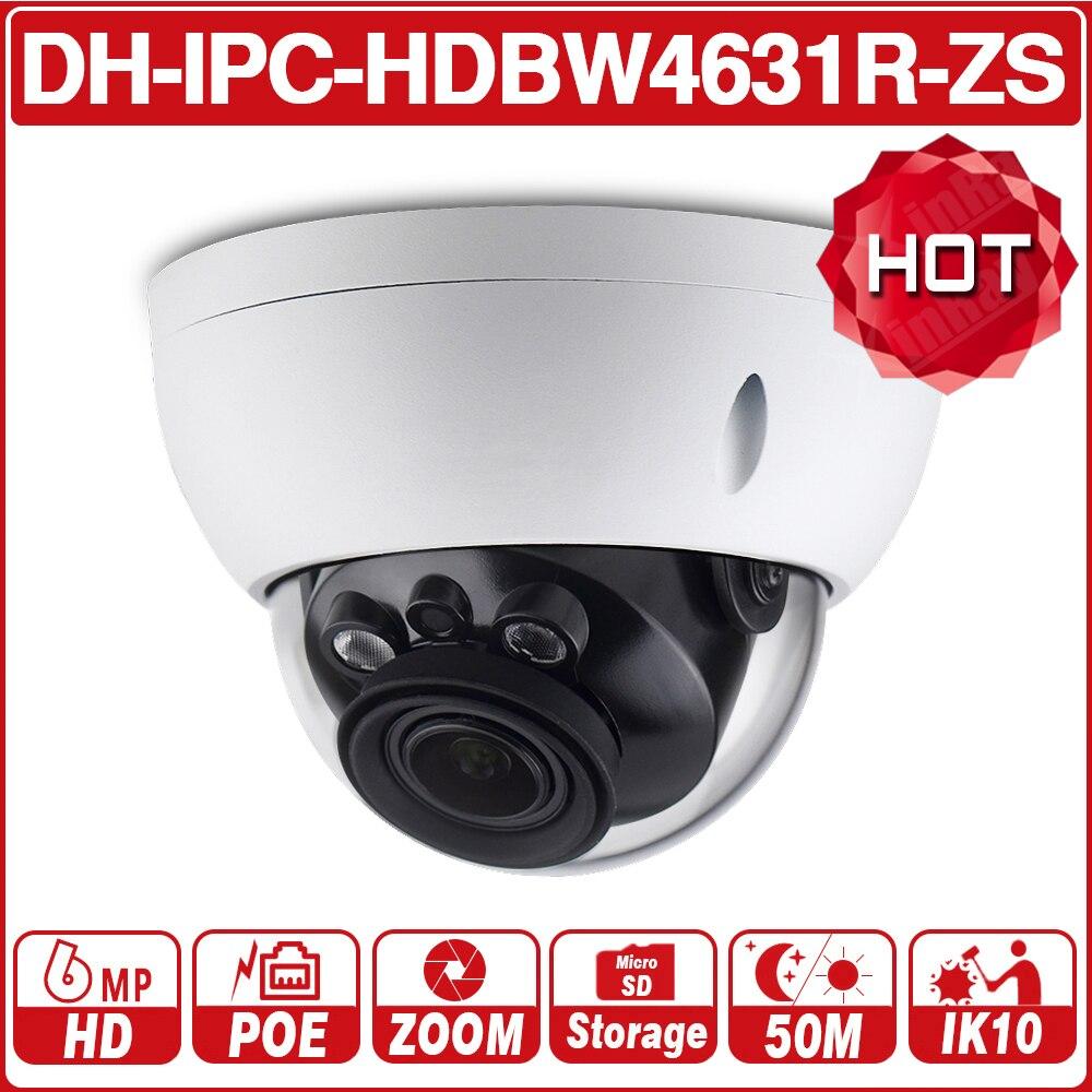 DH IPC-HDBW4631R-ZS 6MP Câmera IP CCTV POE Motorizada Foco Zoom 50 M IR slot para cartão SD Câmera de Rede H.265 IK10 com logotipo Dahua