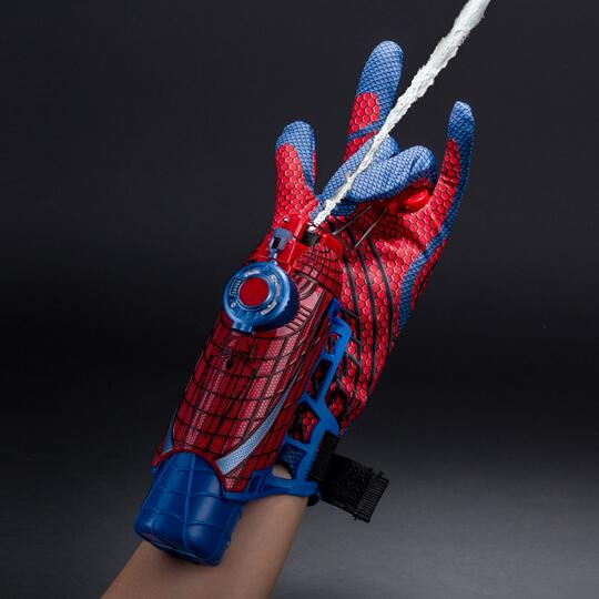 2 IN 1 web fluid water <font><b>shooter</b></font> gun kids Amazing <font><b>Spiderman</b></font> Brinquedos Spinning <font><b>Spray</b></font> Web <font><b>Shooter</b></font> with Hero Gloves