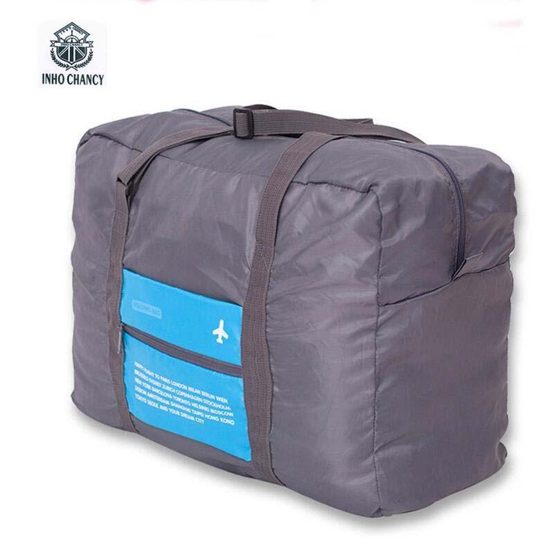 Livraison Gratuite sacs de voyage bagages à main femmes grande capacité pliable étanche bagages hommes voyage sac organizadores duffle sac