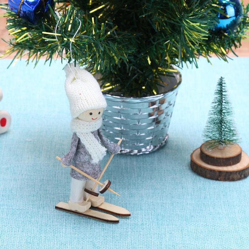 Christmas Baby Toys Cute Cartoon Skiing Plush Snowman Doll Christmas Tree Hang Ornaments Decor Toys & Hobbies Dolls