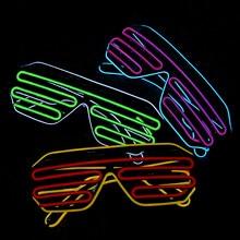 6ad321d451 Novedad gafas LED parpadeante luminoso Festival Rave neón fiesta noche  alambre luz sombra Halloween boda cumpleaños