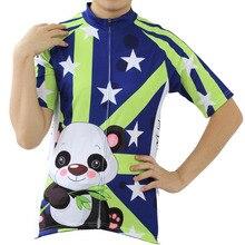 Extranjero sportswear patrón de la panda de ciclo clothing for women summer cremallera manga corta ciclismo ropa mujer tamaño xs-5xl