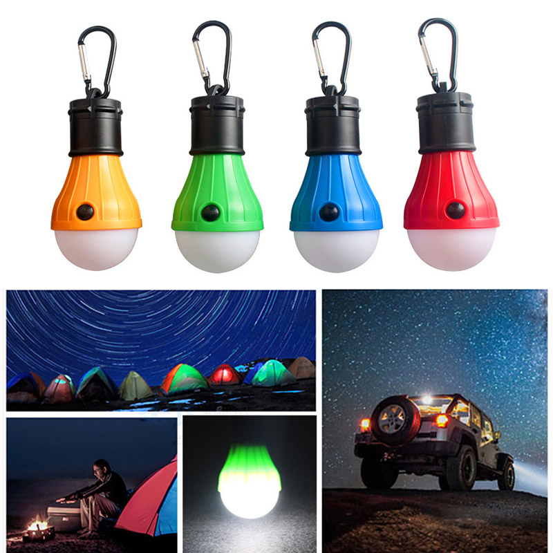 4Pcs LED Camping Tent Lamp Bulb Backpack Light Waterproof Lanterns for Outdoor Hiking Fishing CLH@8