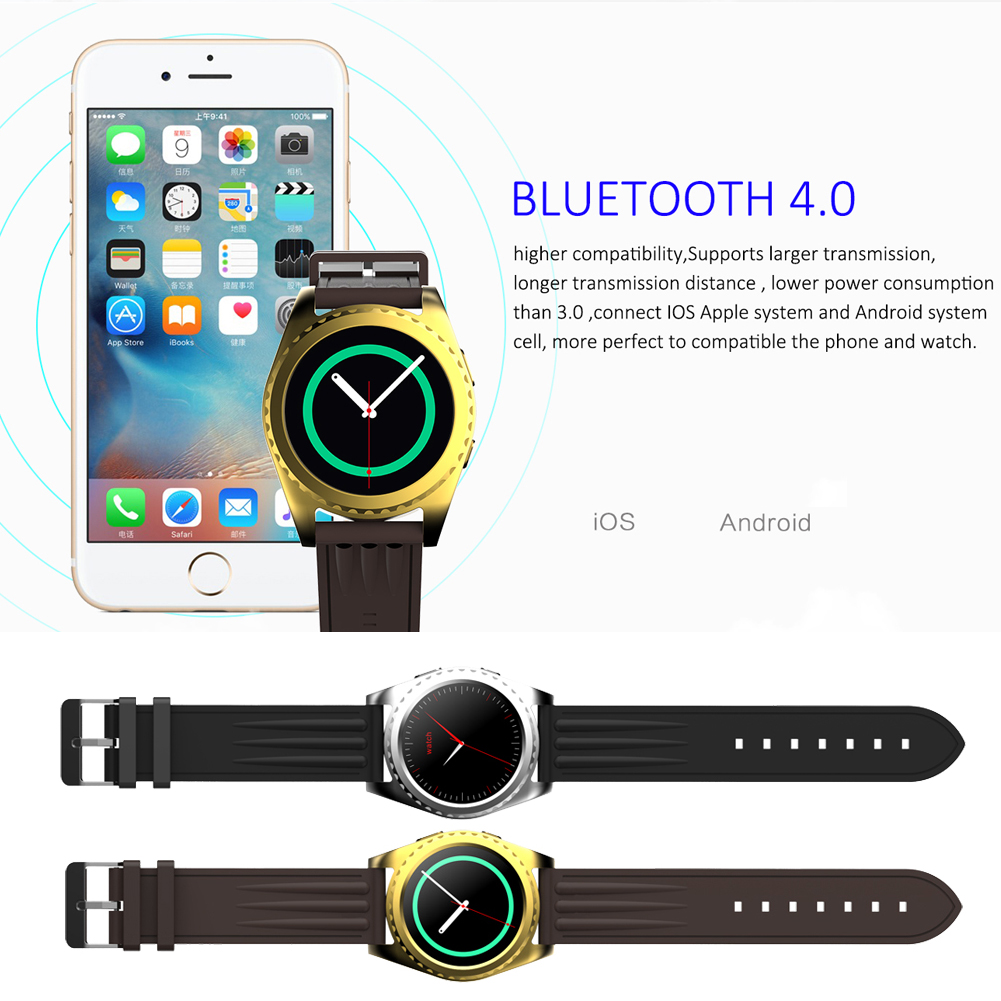 Montre intelligente GS3 Smartwatch moniteur de fréquence cardiaque relogio horloge Tracker de Fitness électronique intelligente Smart wacht pour IOS android L3FE