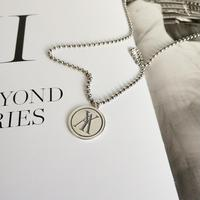 Korean 925 Sterling Silver retro design round Necklace YA Pendant Choker Silver 925 necklace with coins coin wallet