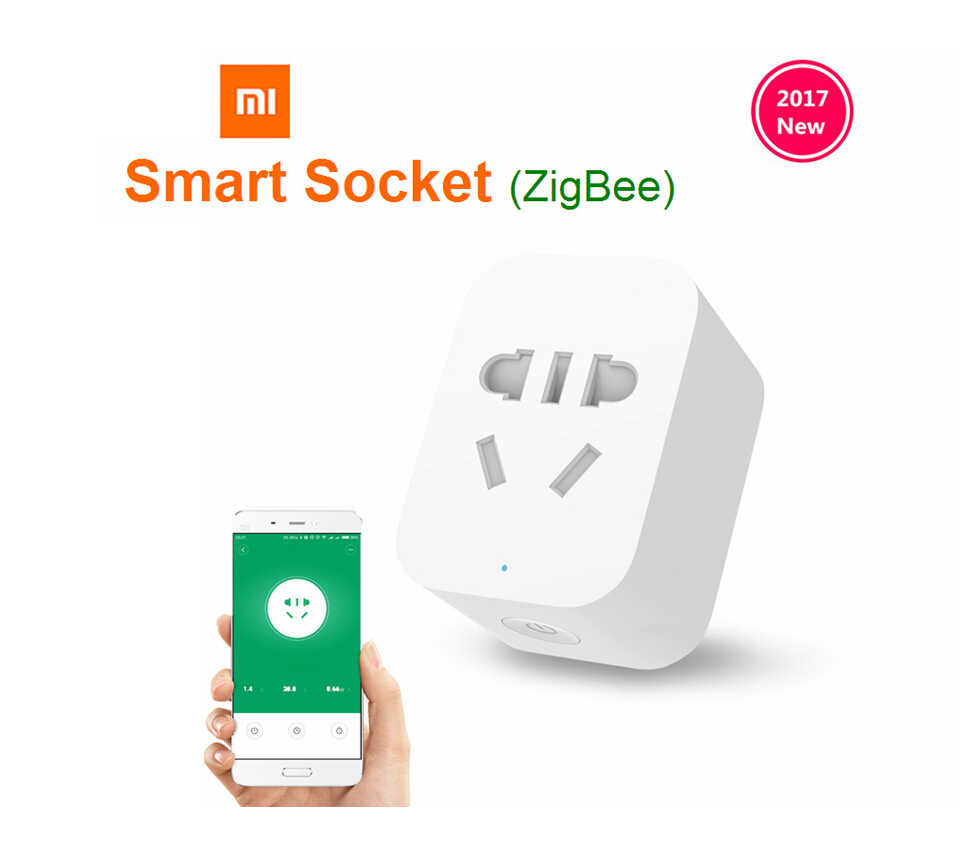 Xiaomi Mi Mijia ZigBee Smart Socket WiFi APP Wireless Control Switches Timer Plug for Android IOS work with Mi home App